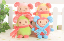 SIZE 11CM Kawaii Scarf Sheep Stuffed Toy , MIX Colors Plush toy doll ; Stuffed Sucker Pendant Toy ; Gift Plush Toys