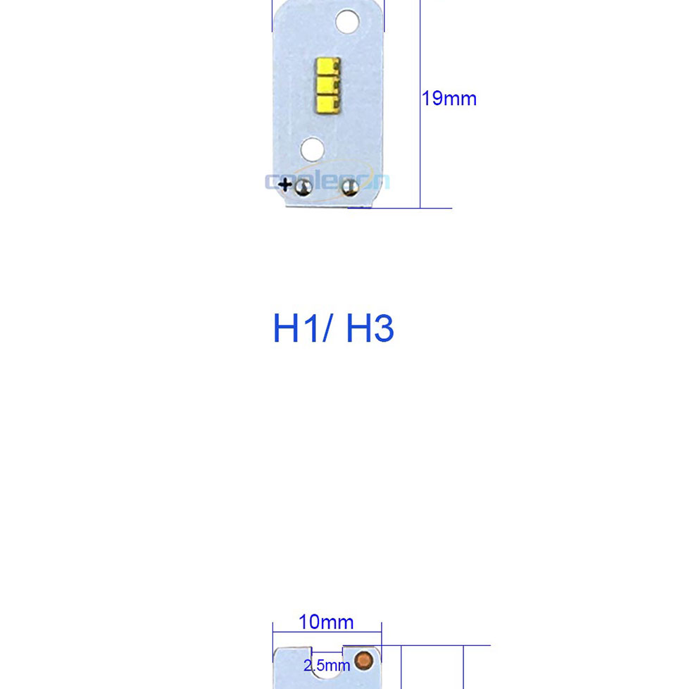ZES COB LED Chip for X3 Car Headlight Bulbs H1 H3 H4 H7 9005 9006 880 H13 9004 9007 Auto Headlamp Light Source X3 ZES Chip (2)