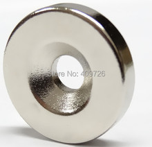 10pcs Strong Round Dia 20mmx4mm with hole 5mm N38 Neodymium Magnet Rare Earth free shipping wholesale(China)