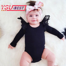 2017 Bodysuit Baby New Lace Black Pink White Body Baby Girl Bodysuits Long Sleeve Jumpsuit Overalls For Children Infant Clothing