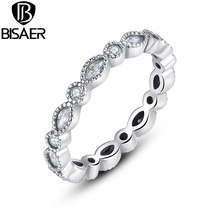 925 Sterling Silver Alluring Brilliant Marquise Stackable Finger Ring Fashion Jewelry WEU7130(China)