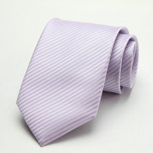 Free Shipping Cheap 2013 south korean silk commercial formal tie marriage tie 8cm tie lavender stripe