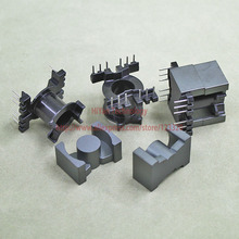 5sets/lot PQ2625 PC40 Ferrite Magnetic Core and 6Pins + 6Pins Top Entry Plastic Bobbin Customize Voltage Transformer