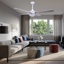 New Arrival 52inch Stainless Steel Ceiling Fan Light with Remote Indoor Ceiling Light Fan Lamp LED Bulbs