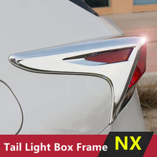 Chrome Tail Light Box Frame Trim Sequin ABS Styling Car Exterior Accessories Modified Sticker For Lexus NX300h 200t 200(China)