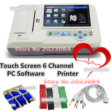 CONTEC ECG600G Digital 6-Channel ECG/EKG Machine Electrocardiograph+PC Software +Touch Screen