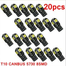 Buy 20PCS led Car Interior Bulb Canbus Error Free T10 White 5730 8SMD LED 12V Car Side Wedge Light White Lamp Auto Bulb Car Styling for $4.24 in AliExpress store