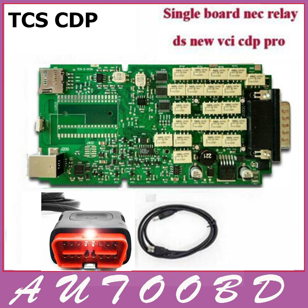 New TCS CDP PRO without Bluetooth New VCI Free Activate Single Green PCB CDP Full set with Housing Auto Univesal Diagnostic tool<br><br>Aliexpress