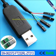win8 10 android mac 0.1in dupont socket  ft232r usb rs232 adapter cable