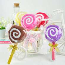 Lovely 3Pcs/lot Cute Lollipop Wedding Gift Towel Gift Design,Multifunction Towel