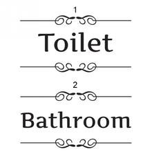 bathroom shower room toilet door Entrance Sign stickers decoration wall decals For Shop Office Home Cafe Hotel(China)