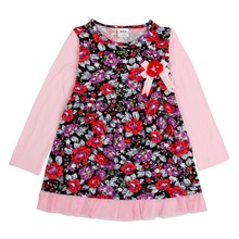 2015 nova kids wear baby Girl dress baby girls clothing wholesale children's infant dress fashion baby girl party dresses(China)