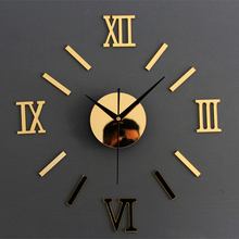 3D Creatively Romae Digital Wall Clock Sticker Watch Modern Design Clock DIY Clocks On Wall Kitchen Clock Living Room Home Decor
