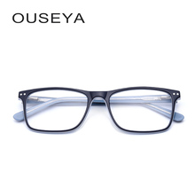 Acetate Women Optical Eyeglasses Fashion Blue Light Transition Lens Female Clear Corrective Prescription Glasses #CB3671(China)