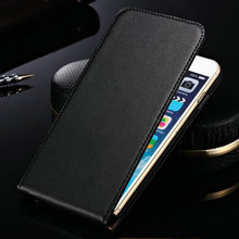 "Genuine Leather Case For iPhone 6 6S 4.7"" Inch Flip Style Mobile Phone Bag Cover Case Black Brown Drop Ship"