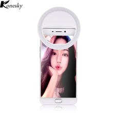 Selfie Portable Flash Led Night Light Camera Phone Photography Ring Light Enhancing Photography for iPhone Samsung(China)