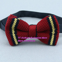Dark Red,navy,yellow Striped Butterfly/bowties,brand New Men Knitted Polyester Pre-tie Adjustable Fashion Bow Ties,z16,cheap