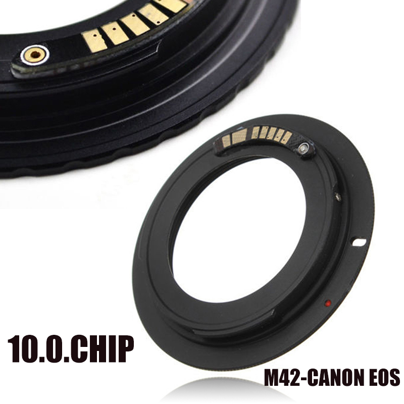 Mayitr 10.0.Chip Lens Adapter 1pc Aluminum M42 Lens Mount Adapter Ring Canon Digital SLR EF Camera