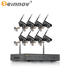 EINNOV 8CH CCTV System Wireless 1080P NVR 7PCS/8PCS 2.0MP IR Outdoor P2P Wifi IP CCTV Security Camera System Surveillance Kit