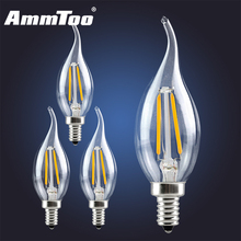 E14 E12 Led Filament Candle Light Clear Glass Housing Retro Edison Bulb 2W 4W 6W 220V 110V 120V Lampada Led Evergy Saving Lamp