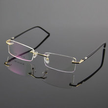 PrescriptionEyewear Unisex Glasses Frame Designer Rimless Eyeglasses Men and Women Name Brand Glasses Spectacles Optical Frame