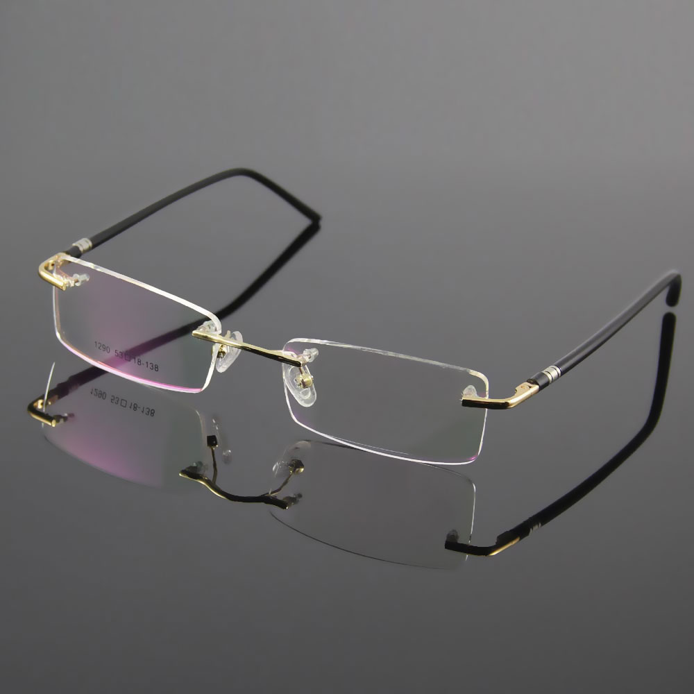 PrescriptionEyewear Unisex Glasses Frame Designer Rimless Eyeglasses Men and Women Name Brand Glasses Spectacles Optical Frame(China (Mainland))