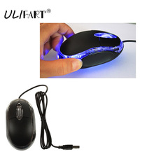 ULIFART USB LED OPTICAL MOUSE WIRED LAPTOP COMPUTER PC MINI MOUSES MICE WITH SCROLL WHEEL FOR MAC NOTEBOOK PRO GAMER
