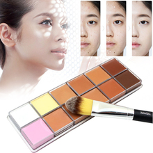 Professional Foundation Palette Concealer Makeup Camouflage Cream Face Cosmetic 12 Color Party Long lasting Makeup Tools L3