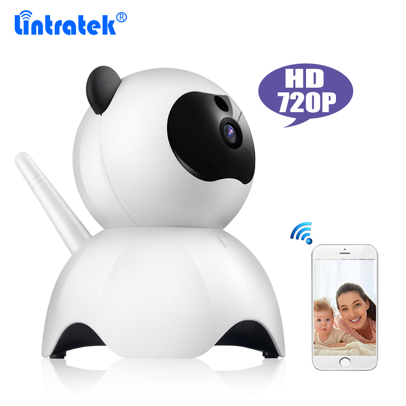 720P HD Wireless Security Panda IP Camera with Night Vision Ethernet Port Home Security 1.0 Megapixel Resolution WiFi  IP Camera<br>