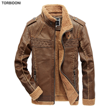New Brand Motorcycle Leather Jackets Male PU Leather Thick Warm Jacket Jaqueta de Couro Masculina Mens Leather Jackets Coats