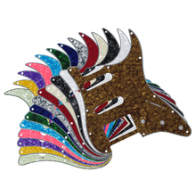 13pcs 11 Holes 4 Ply Electric Guitar Pickguard Scratch Plate SSH for FD Strat Guitar Parts & Accessories,Mixed Colors(China)