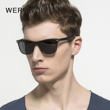 WEREWOLF Brand Unisex Aluminum Square Men's Polarized Sun Glasses Female Eyewears Accessories Wayfar Sunglasses For Men 2140(China)