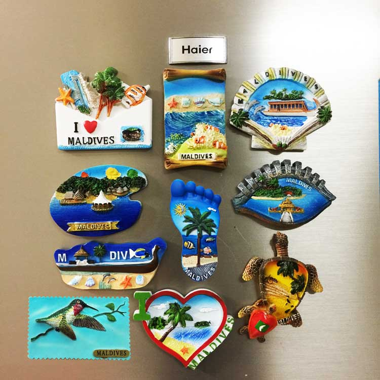 Eye Shaped Maldives Landscape Fridge Magnet Refrigerator Sticker Travel Souvenir