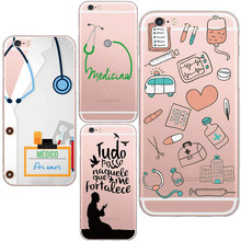 Funny Medico Comics Medical Cell Phone Case Design for iphone 5 5s 6 6s 7 7plus Soft TPU Silicon Cover Capa Case(China)