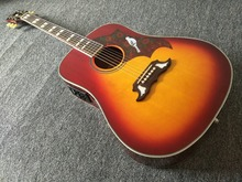 New DOVE Acoustic Guitar cherry sunburst with fishman 301 pickups(China)