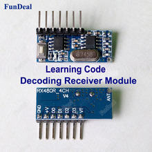 433mhz Wireless Receiver Learning Code Decoder Module 4 Ch output Diy kit With Learning Button For Remote Control 1527 encoding