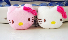 Kawaii Mini 4*3CM Hello KITTY Plush TOY String Strap BAG Pendant TOY Key Chain DOLL ; Stuffed TOY Bouquet Plush DOLL TOY