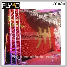 4x6m pixel 5 flex led curtain best price led display wall hot video cloth wall with flight case