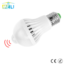 LED PIR Motion Sensor Bulb E27 220V Led Lamp 5W 7W 9W Auto Smart Led PIR Infrared Body Sensor Lamp Home Lighting Garage Stairs(China)