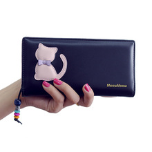 Women Purse and Wallets Cute Cat Fashion Designer Long Clutch Purse Bag Wallets Female Cards Holder Phone Coin Purse Wallets