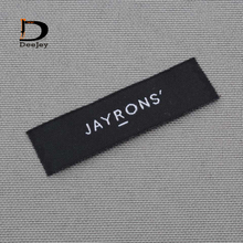 Custom brand clothing labels private logo woven labels and tags 1000pcs/lot(China)