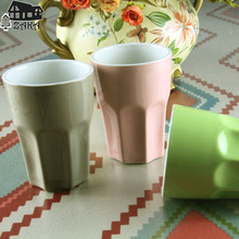 New arrival KEYAMA Candy colors ceramic glaze breakfast milk mugs Office coffee cups holiday's gift Desktop cups Home deocration