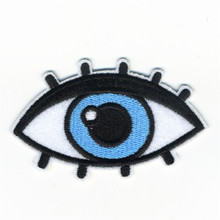 The Girl Woman Beautiful Eyes Patches Iron On Embroidered Patch For Clothing Stick On Badge Paste For Clothes Sew On Bag Pants(China)