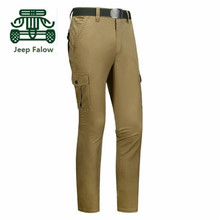 Falow AFS JEEP Original Brand Men's Thin Elasticity Cotton Casual Pants,Summer/Autumn Fashion Army Clothes,Solid Motorcycle Pant
