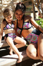 Mother and Daughter Swimsuits Two Pieces Mother and Child Sexy Women Sweet Baby Swimwear set Swimsuits Monokini Bikini