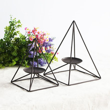 Iron Candlestick European minimalist home accessories retro fashion creative decorative wrought iron candle holders Decoration