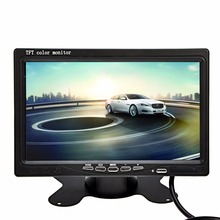 "7"" LED Backlight Color TFT LCD monitor Low power consumption car Rear View Monitor for Car DVD VCR video with IR remote control"