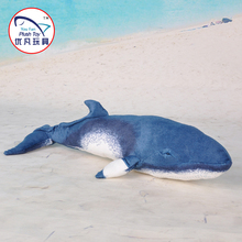 Realistic design Minke Whale soft toy plush material stuffed sea animal toy for kids gift(China)