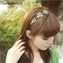 ChenaWolry 1PC Attractive Fashion Accessories Gold Olive Leaves Leaf Stretchy Hair Head Band Grecian Style Oct 12