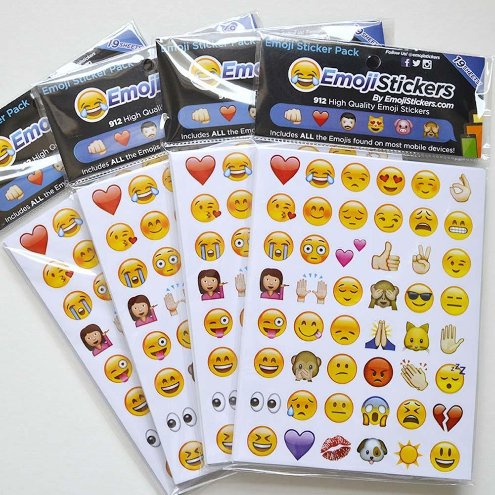 19 Pcs Emoji Sticker Pack 912 Die Cut Stickers For Diary Phone Instagram Twitter Vinyl Notebook smiley icons images of emoticons(China (Mainland))